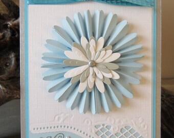 Birthday rosette card