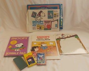 1965 Snoopy Take-Along Box Kids Art Kit