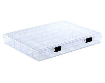 1, 5 or 10 box with 36 boxes transparent plexiglass - Ref: 2150