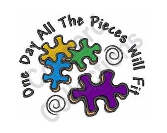 Puzzle Pieces - Machine Embroidery Design, Puzzle
