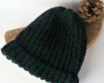Green baby hat, purple baby hat, green baby beanie, baby hats, sale, handmade, purple baby beanie, knitted baby hat, baby gifts, loomknit