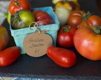 Tomato Hangtag - Kraft Paper - Perfect for Small Farms & Gardeners