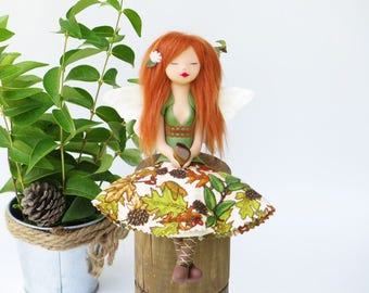Sune the fairy of optimism, Fairy sculpture, art doll. forest Fairy. Magic. Art doll. Fantasy. Tiger's Eye. Healing Stones.