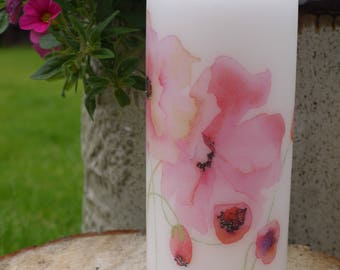 Floral candle, flower Candle, house decor