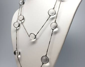 Long Pools of Light Necklace, Sterling