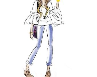Custom Fashion Illustration - Quick sketch