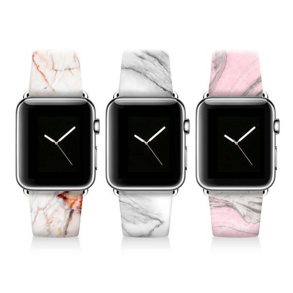 Pink Marble Apple Watch Band Women Apple Watch Strap Genuine