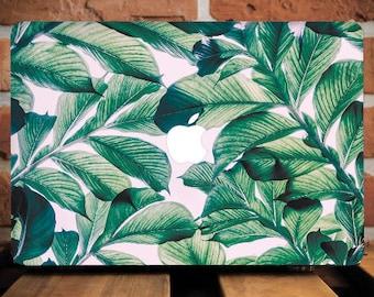 Tropical Leaves MacBook Air 13 Hard Case MacBook Air Case 13 Inch Macbook Air Laptop Case Macbook Pro 13 Case Macbook 2016 Leaf Retina Case