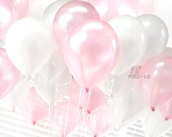 Pink Ombre Balloon Set | Blush Party Balloons | Pink Event Balloons | Blush Party Theme Balloons | Pink Decoration | Set of 6