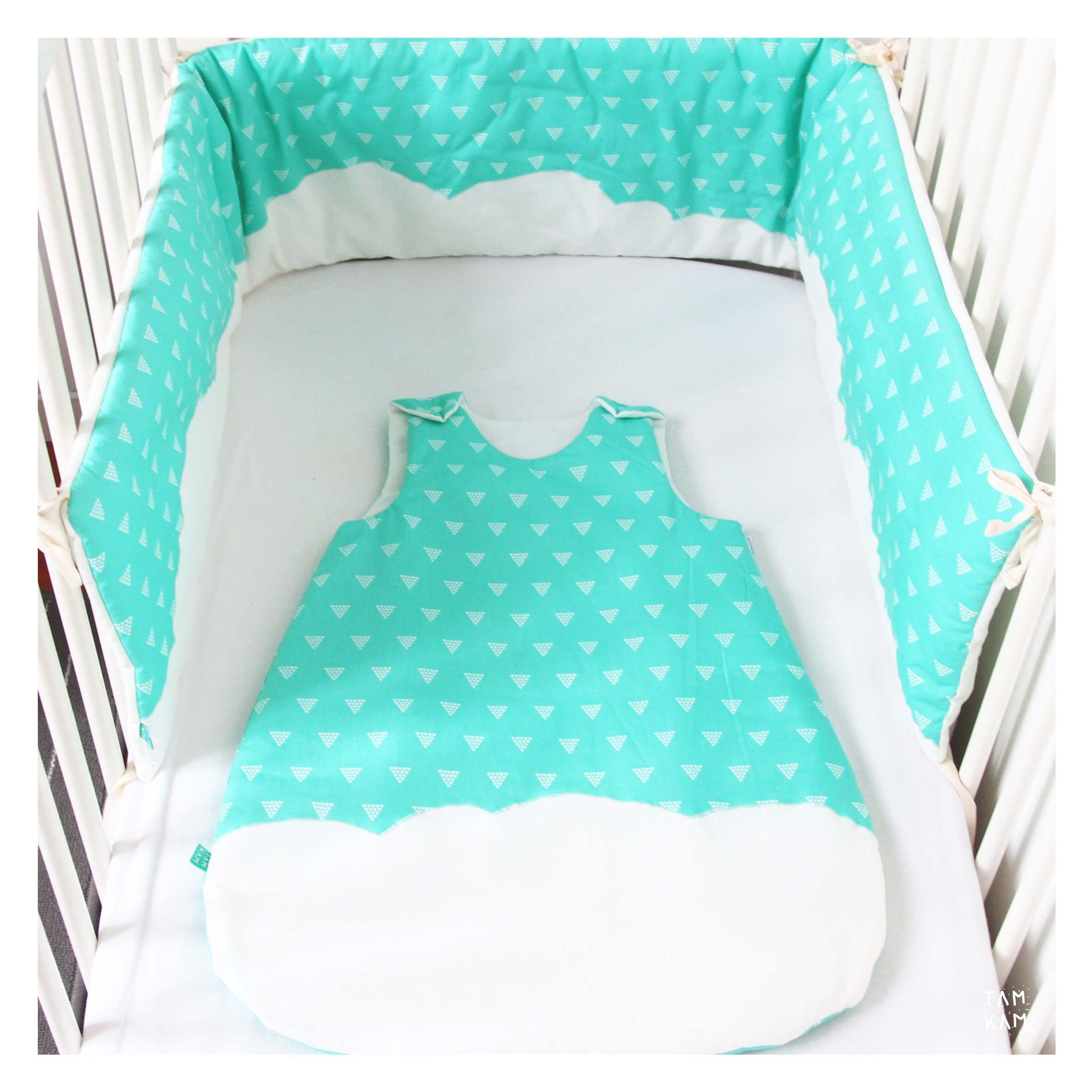 Gigoteuse b b turbulette b b 0 6 mois et tour de lit assorti - Tour de lit bebe et gigoteuse assortie ...