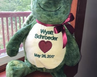 18 inch personalized stuffed turtle