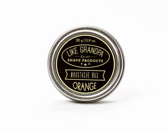 Moustache Wax | All Natural | Orange or Pine