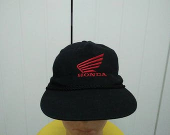 Rare Vintage HONDA Big Logo Embroidered Spell Out Cap Hat Free size fit all
