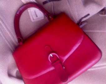 nice red bag vintage, so good as new 80s