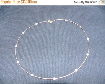 ON SALE Vintage Gold and Pearl Necklace