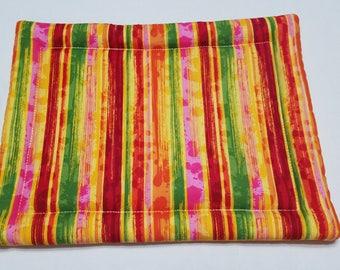 Striped Yellow Hot Mat