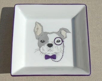 "Empty pockets ""The lorgnette Bouldogue"" porcelain"