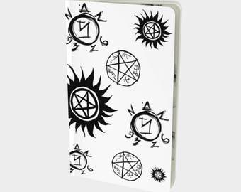 Supernatural notebook - journal - diary - notes - agenda - stationary - planner - book - hardcover - fandom - pocketbook