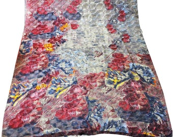 Multicolor Indian Fabric Sari Dress Women Home Decor Used Saree Material Curtain Drape 5YD Used Floral Printed Fabric Sewing