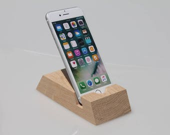 iPhone docking station, iPhone charging station, iPhone stand, iPhone support, Wood iPhone dock, iPhone desk, Gift for him, Gift for her