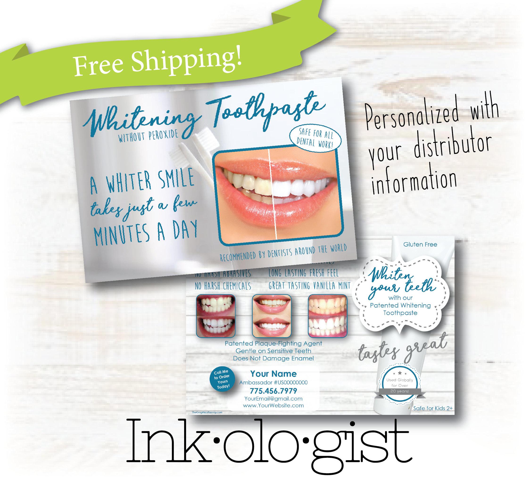 nu skin toothpaste ap24 custom postcard nu skin brochure