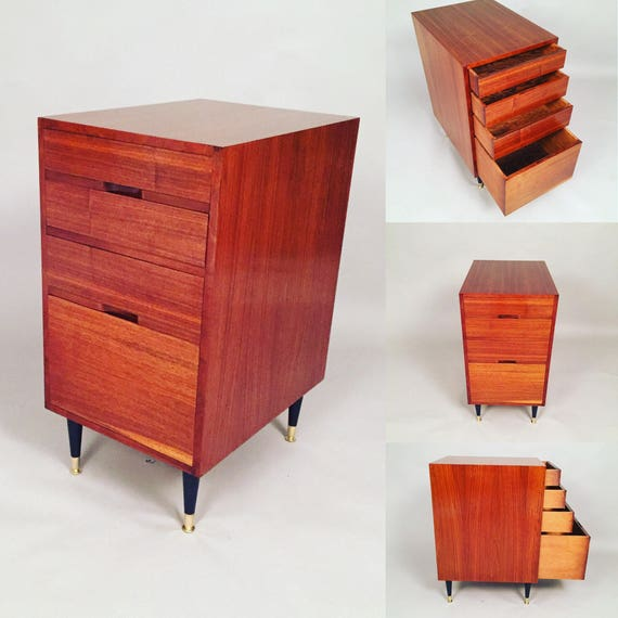 Mid-Century vintage restored small office cabinet/dresser
