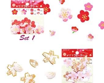 Cherry Blossoms, Plum Flower Stickers, Creative, Pink, Stationery, DIY, Handmake