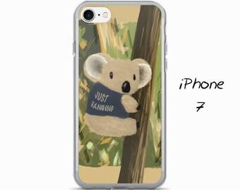 Just Hanging Koala, iPhone Case, Animal iPhone Case, Cute iPhone Case, Nature, iPhone 5, 5S, 6/6S, 6/6S Plus, 7, 7 Plus, iPhone case