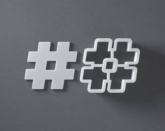 Hashtag sign cookie cutter,
