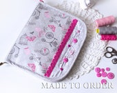 Sewing Cross stitch case Sewing holder Project bag Sewing organizer Travel sewing set Sewing storage Needle case Gift for sewer stitcher