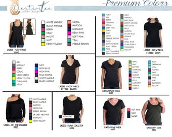 Add-on* Premium Shirt Colors