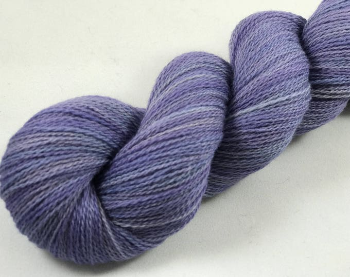 "Featured listing image: Hand Dyed Merino Lace Yarn ""Cornflower"""
