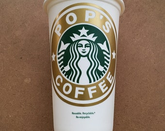 Personalized Name DIY Decal for Starbucks Coffee Cup