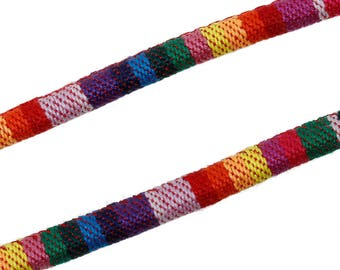 1 m cord cotton MULTICOLOR 6 mm the meter