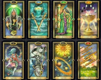 Printable TAROT deck. Divination with Taro cards, including reading and spreads