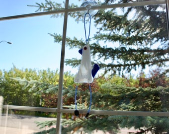 Fused Glass Bird Suncatcher