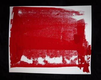 RED Screen Print Poster