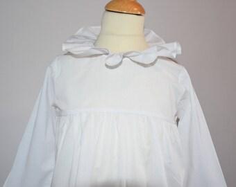 Shirt / blouse / tunic / girl frill collar