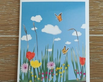 "O'Lily Art ""Spring Field"" Blank Note Cards w/Envelopes (5 ct.)"