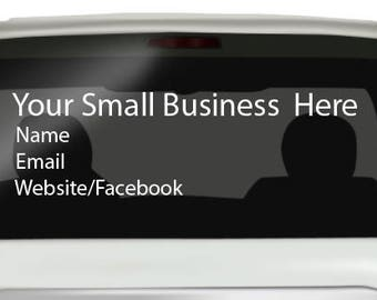 Your Small Business Car Decal 2