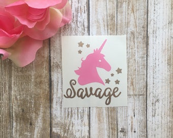 Unicorn Decal / Unicorn Yeti Decal / Savage Decal / Unicorn Car Decal / Savage/ Unicorn