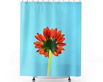 Flower Shower Curtain, Blue Flower Shower Curtain, Daisy Shower Curtain,  Flowers Shower Curtain
