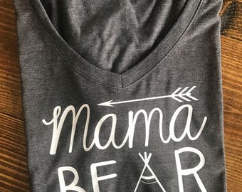 One shirt MAMA BEAR----Boymom shirt, mama bear shirt, mom of boys shirt, man cub shirt, mama bear shirt set, momlife shirt, mom shirt, mom s