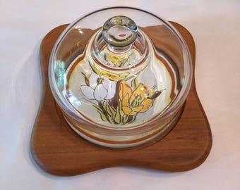 Vintage Goodwood cheese board with glass dome