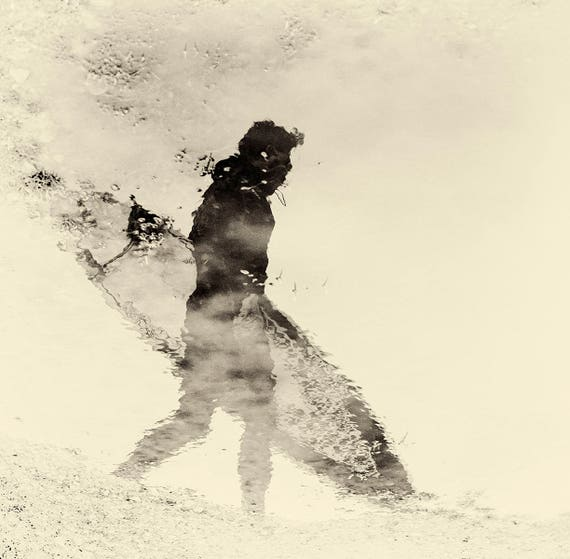 SURFER REFLECTION. Surf Print, Artistic Photograph, Square print, Limited Edition, Reflection Print.