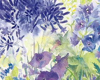 Summer Blues Watercolour Print