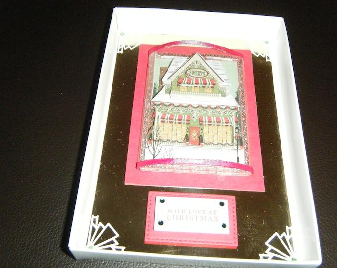 Handmade Decoupage Christmas Card