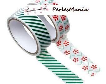 Set 2 rolls of masking tape, washi tape ref S1166177