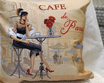 Tapestry Pillowcase  (17,7 x 17,7)  Art Pillow , Decorative Pillow Cover, Designer Pillows