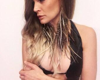 Boho Jewelry, Dangle Earrings, Dangle Earring, Burning Man Clothing, Feather Clothing, Feather Earring, Hair Feather, Festival Jewelry